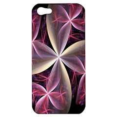 Pink And Cream Fractal Image Of Flower With Kisses Apple Iphone 5 Hardshell Case