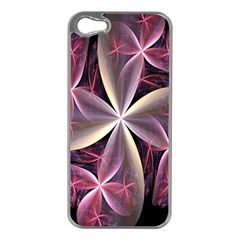 Pink And Cream Fractal Image Of Flower With Kisses Apple iPhone 5 Case (Silver)
