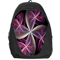 Pink And Cream Fractal Image Of Flower With Kisses Backpack Bag