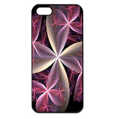 Pink And Cream Fractal Image Of Flower With Kisses Apple iPhone 5 Seamless Case (Black)