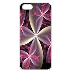 Pink And Cream Fractal Image Of Flower With Kisses Apple Iphone 5 Seamless Case (white)