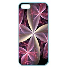 Pink And Cream Fractal Image Of Flower With Kisses Apple Seamless iPhone 5 Case (Color)