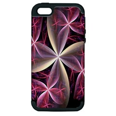 Pink And Cream Fractal Image Of Flower With Kisses Apple iPhone 5 Hardshell Case (PC+Silicone)
