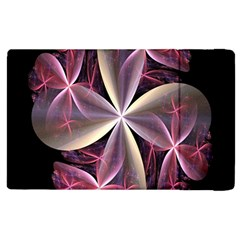Pink And Cream Fractal Image Of Flower With Kisses Apple iPad 2 Flip Case