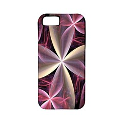 Pink And Cream Fractal Image Of Flower With Kisses Apple iPhone 5 Classic Hardshell Case (PC+Silicone)
