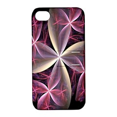 Pink And Cream Fractal Image Of Flower With Kisses Apple iPhone 4/4S Hardshell Case with Stand