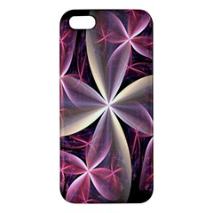 Pink And Cream Fractal Image Of Flower With Kisses Apple iPhone 5 Premium Hardshell Case