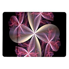 Pink And Cream Fractal Image Of Flower With Kisses Samsung Galaxy Tab 10.1  P7500 Flip Case
