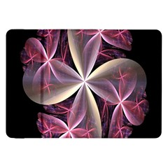 Pink And Cream Fractal Image Of Flower With Kisses Samsung Galaxy Tab 8 9  P7300 Flip Case