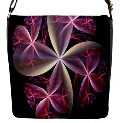 Pink And Cream Fractal Image Of Flower With Kisses Flap Messenger Bag (s)