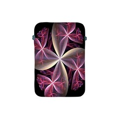 Pink And Cream Fractal Image Of Flower With Kisses Apple Ipad Mini Protective Soft Cases