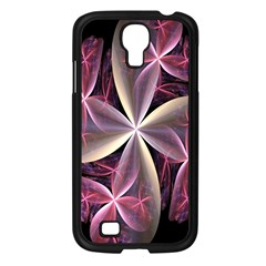 Pink And Cream Fractal Image Of Flower With Kisses Samsung Galaxy S4 I9500/ I9505 Case (Black)