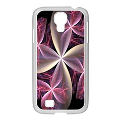 Pink And Cream Fractal Image Of Flower With Kisses Samsung GALAXY S4 I9500/ I9505 Case (White)