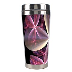 Pink And Cream Fractal Image Of Flower With Kisses Stainless Steel Travel Tumblers
