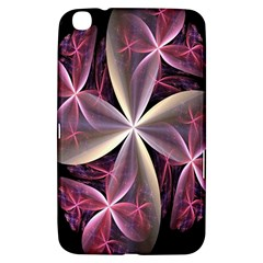 Pink And Cream Fractal Image Of Flower With Kisses Samsung Galaxy Tab 3 (8 ) T3100 Hardshell Case