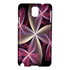 Pink And Cream Fractal Image Of Flower With Kisses Samsung Galaxy Note 3 N9005 Hardshell Case