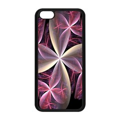 Pink And Cream Fractal Image Of Flower With Kisses Apple iPhone 5C Seamless Case (Black)