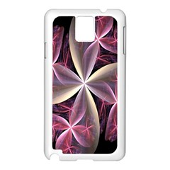 Pink And Cream Fractal Image Of Flower With Kisses Samsung Galaxy Note 3 N9005 Case (White)