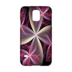 Pink And Cream Fractal Image Of Flower With Kisses Samsung Galaxy S5 Hardshell Case