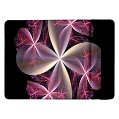 Pink And Cream Fractal Image Of Flower With Kisses Samsung Galaxy Tab Pro 12 2  Flip Case