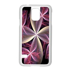 Pink And Cream Fractal Image Of Flower With Kisses Samsung Galaxy S5 Case (White)