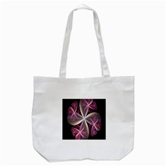 Pink And Cream Fractal Image Of Flower With Kisses Tote Bag (white)