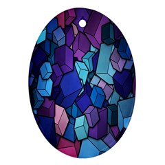 Cubes Vector Art Background Ornament (Oval)