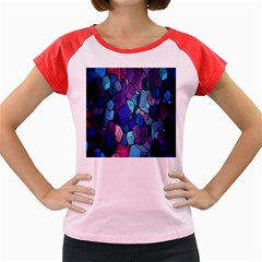 Cubes Vector Art Background Women s Cap Sleeve T-Shirt