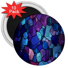 Cubes Vector Art Background 3  Magnets (10 Pack)