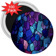 Cubes Vector Art Background 3  Magnets (100 Pack)