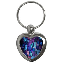 Cubes Vector Art Background Key Chains (Heart)