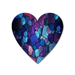 Cubes Vector Art Background Heart Magnet