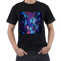 Cubes Vector Art Background Men s T Shirt (black) (two Sided)