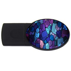 Cubes Vector Art Background USB Flash Drive Oval (4 GB)