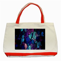Cubes Vector Art Background Classic Tote Bag (Red)