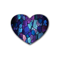 Cubes Vector Art Background Heart Coaster (4 Pack)