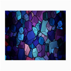 Cubes Vector Art Background Small Glasses Cloth (2 Side)