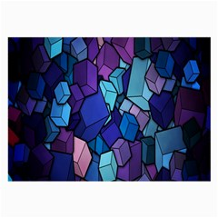 Cubes Vector Art Background Large Glasses Cloth