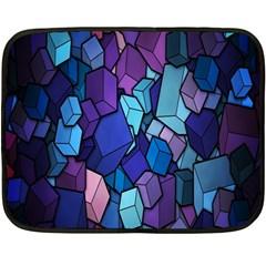 Cubes Vector Art Background Fleece Blanket (mini)