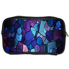 Cubes Vector Art Background Toiletries Bags 2 Side