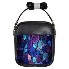 Cubes Vector Art Background Girls Sling Bags