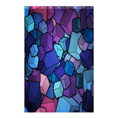 Cubes Vector Art Background Shower Curtain 48  X 72  (small)