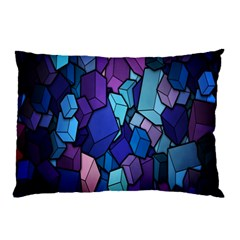 Cubes Vector Art Background Pillow Case (Two Sides)