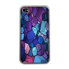 Cubes Vector Art Background Apple iPhone 4 Case (Clear)