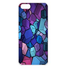 Cubes Vector Art Background Apple iPhone 5 Seamless Case (White)