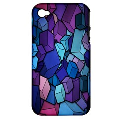 Cubes Vector Art Background Apple iPhone 4/4S Hardshell Case (PC+Silicone)