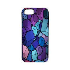 Cubes Vector Art Background Apple iPhone 5 Classic Hardshell Case (PC+Silicone)