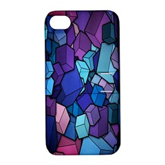 Cubes Vector Art Background Apple iPhone 4/4S Hardshell Case with Stand