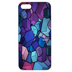 Cubes Vector Art Background Apple iPhone 5 Hardshell Case with Stand