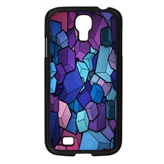 Cubes Vector Art Background Samsung Galaxy S4 I9500/ I9505 Case (black)